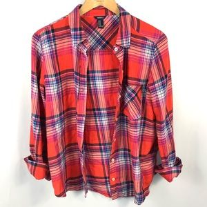 Forever 21 Red Plaid Shirt